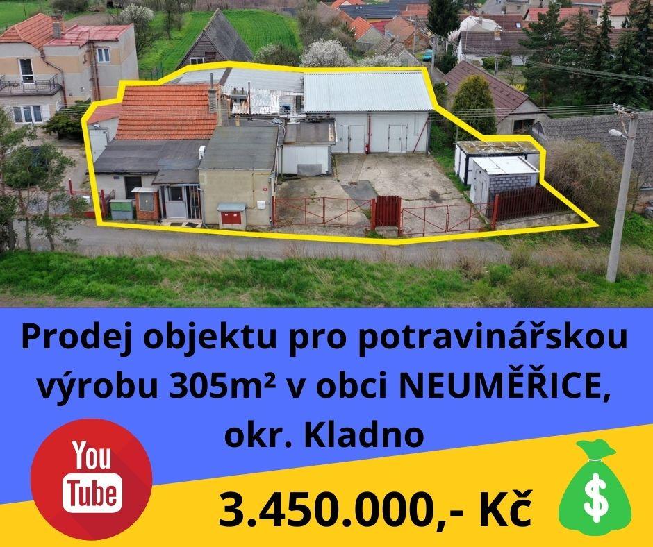 Prodej objektu pro potravinářskou výrobu 305m² - Neuměřice