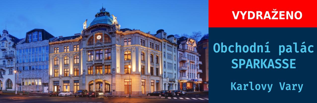 Dražba obchodního paláce Sparkasse, Karlovy Vary