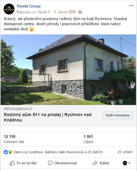 fb propagace nemovitosti