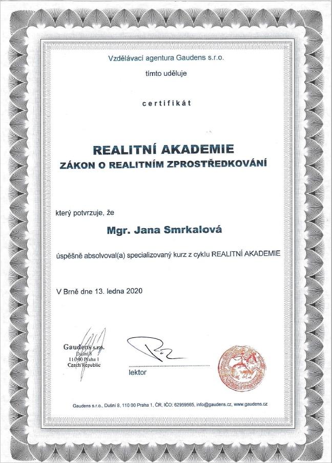 Gaudens certifikat
