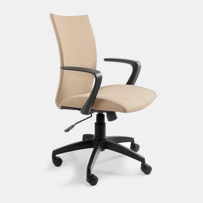 Bežová čalouněná židle