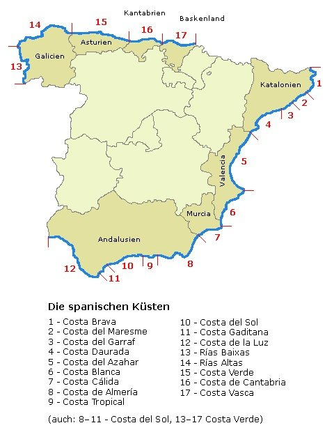 Spanien-Kuesten